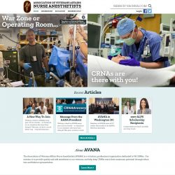 Medical website for the Association of Nurse Anesthetists.