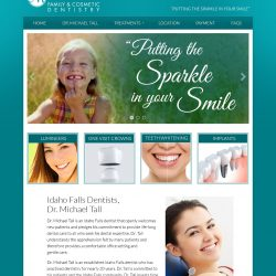 Modern website redesign for Dr. Tall Denistiry.