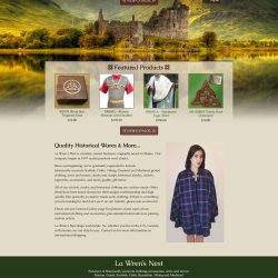 Website with a animated castle background.