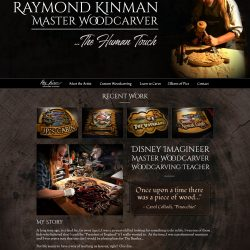 A Website for a professional wood-carver andformer Disney Imagineer, Ray Kinman.