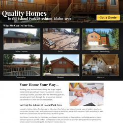 Full homepage for Construction website for Ron Palmer.