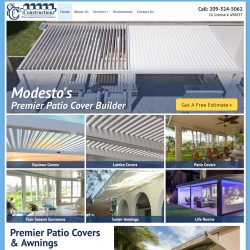 Construction website featuring an video banner.