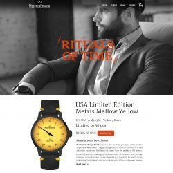 Luxury Watch Company website mockup.