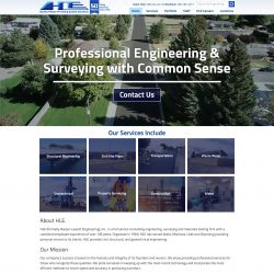 Engineering website with video header.